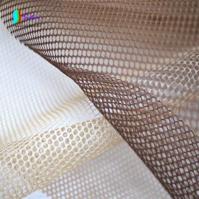 Cream colored Coffee Mesh Fabric Inner Lining Cloth DIY