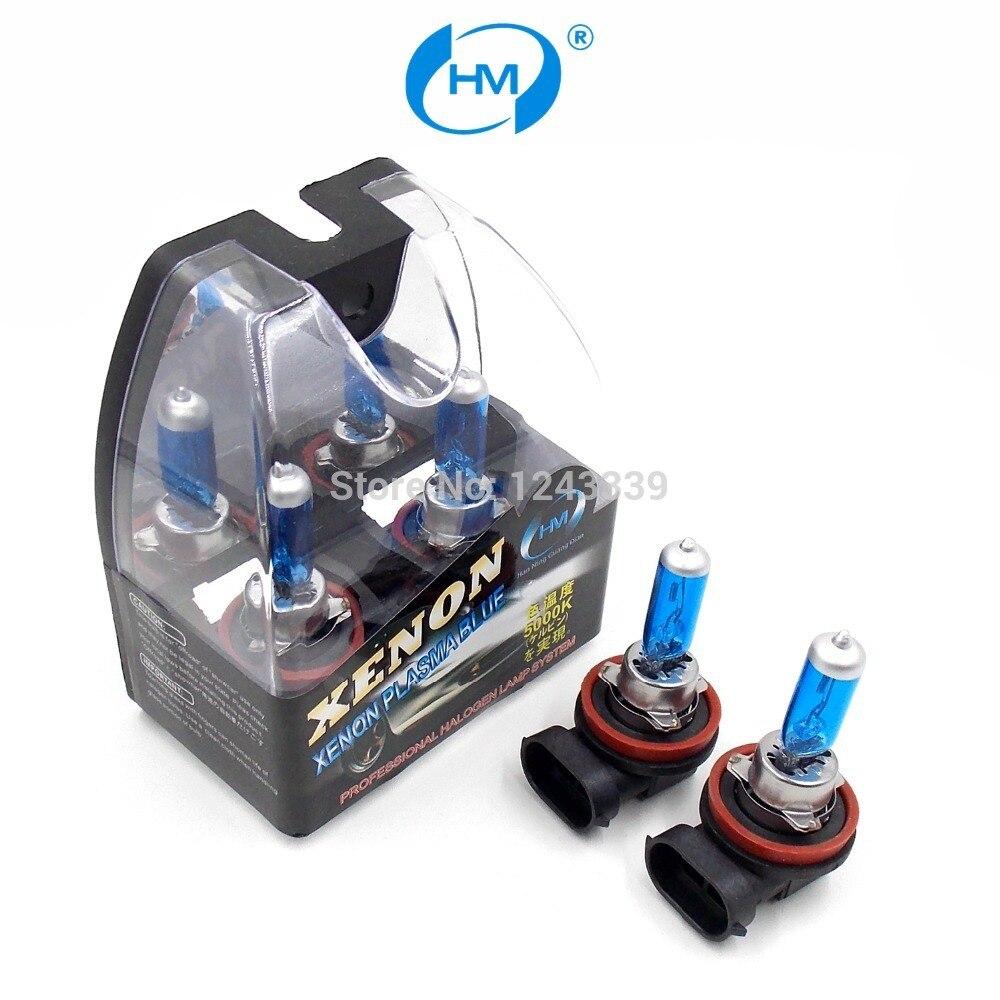 HM Ксенон плазменным супер белый свет H11 12 В 100 Вт галогенные автомобильные головы Лампочки лампы (пара)