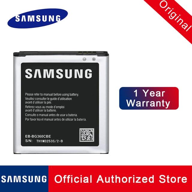 EB-BG360BBE batterie de remplacement dorigine pour Samsung Galaxy Win 2 Duos Core Prime G361 G3608 G360BT TV 32000mAh Akku expédition rapide