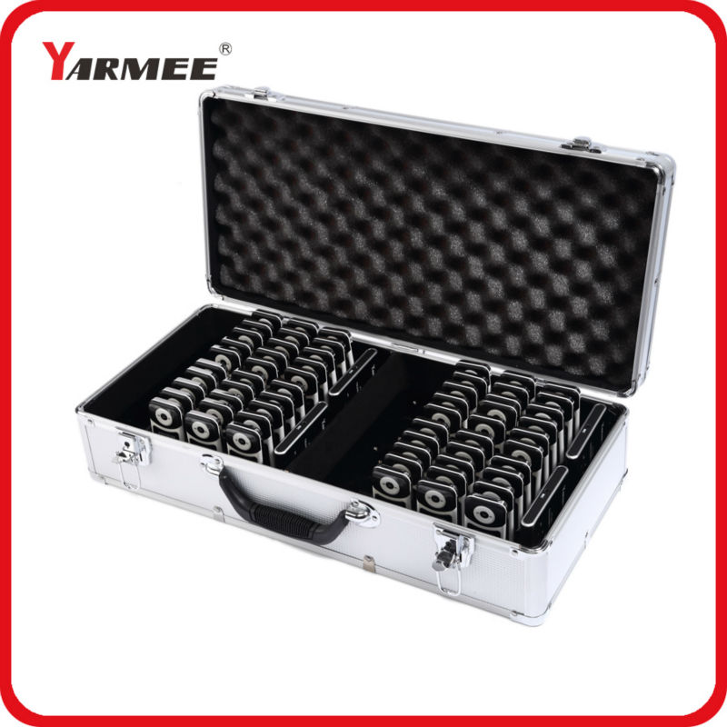 все цены на One Set YARMEE VHF Wireless Tour Guide System VHF frequency wireless microphone 2 Transmitter and 60 Receiver with Charging Case онлайн