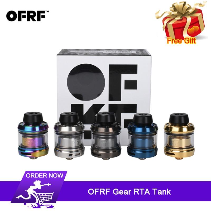 Original OFRF Gear RTA Tank 24mm Diameter Single Coil Gear Atomizer Innovative Ultra-short Airway Rapid Steam System E Cigarette