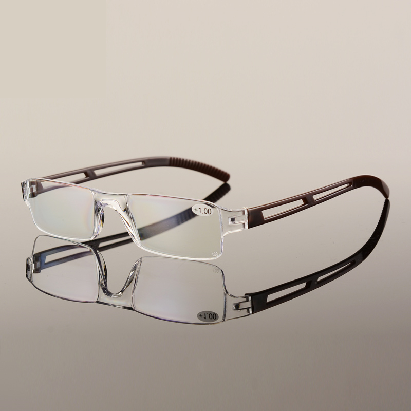 TR90 ULTRALEICHTE lesebrille randlose Tragbare presbyopie brille ...