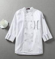 white long sleeve chef uniform chef jacket chef coat kitchen chef uniform