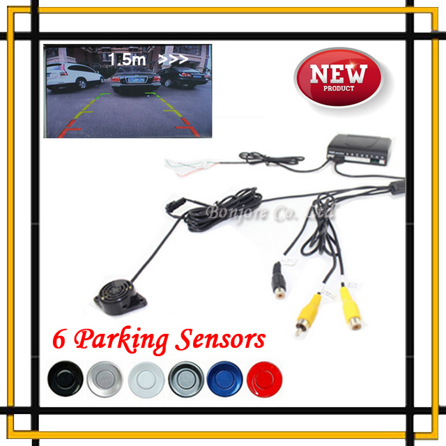 Dual Core CPU Car Parking Assistance Sensor Reversing Radar Video Detector System 6 Sensors kit Alert Indicator Probe System