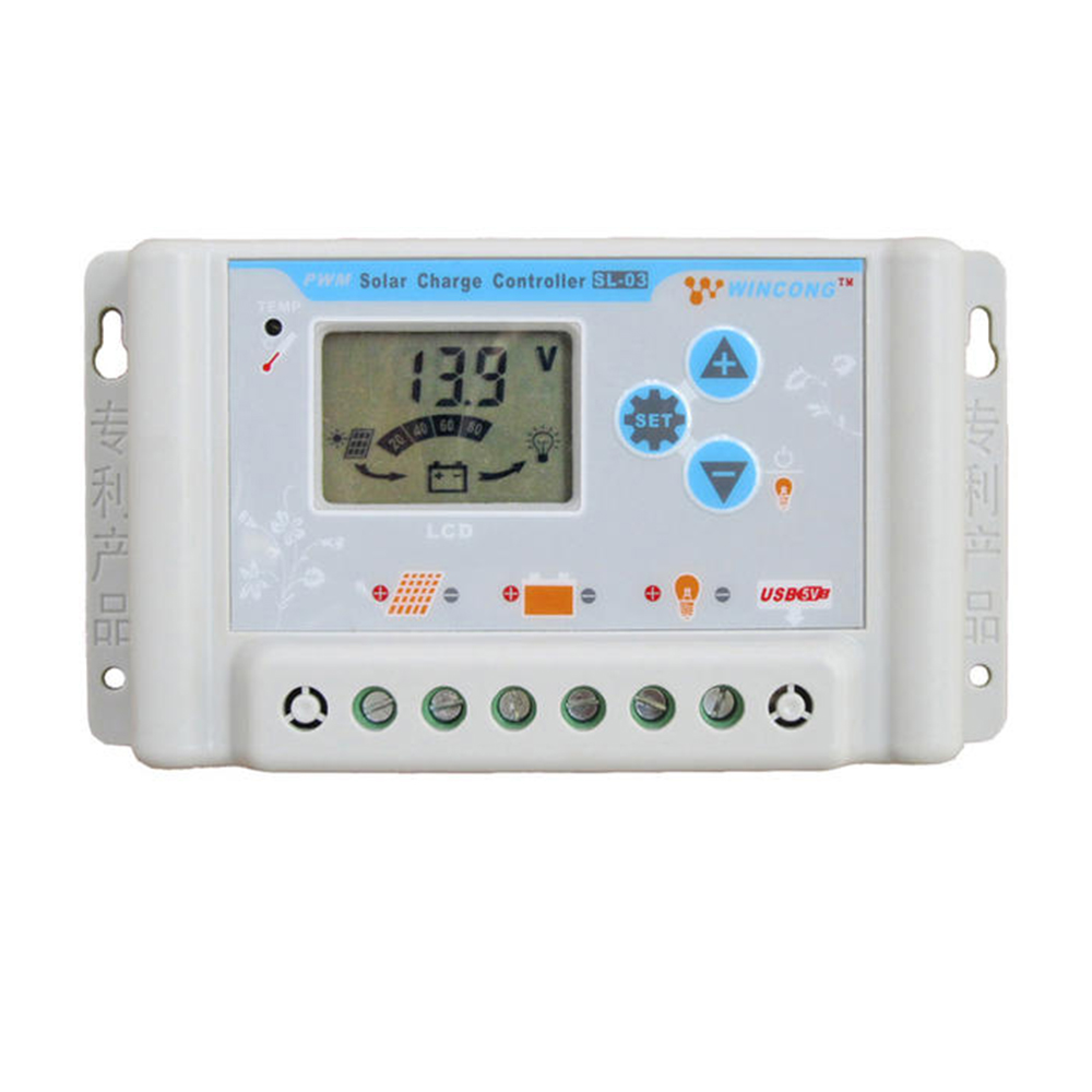30A PWM Solar Charge Controller 36V 48V 60V USB LCD Display Adjustable Parameter for Li Li-ion lithium LiFePO4 Batteries