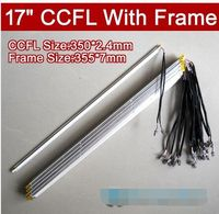 20PCS 17'' inch dual lamps CCFL with frame,LCD monitor lamp backlight with housing,CCFL with cover,CCFL:350MM,FRAME:355mmx7mm