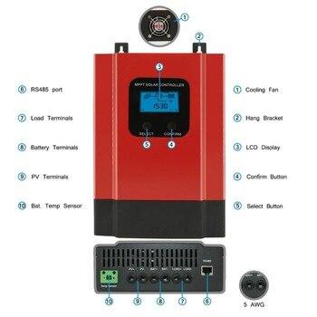 eSmart3 MPPT 40A Solar Charge Controller Max 150VDC Input Back-light LCD Solar Regulator RS485 Port with LCD12V 24V 36V 48V Auto 2