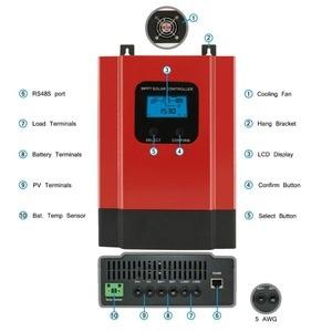 Image 2 - Esmart3 mppt 40a 솔라 충전 컨트롤러 최대 150vdc 입력 백라이트 lcd 솔라 레귤레이터 rs485 포트 (lcd12v 24 v 36 v 48 v 자동 포함)