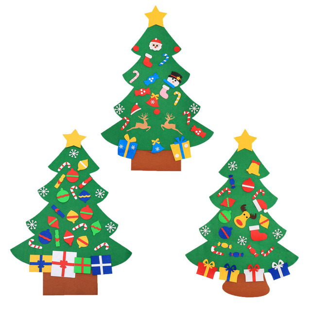 Kids Diy Felt Christmas Tree Decorations Gifts For New Year S Door Wall Hanging Ornaments