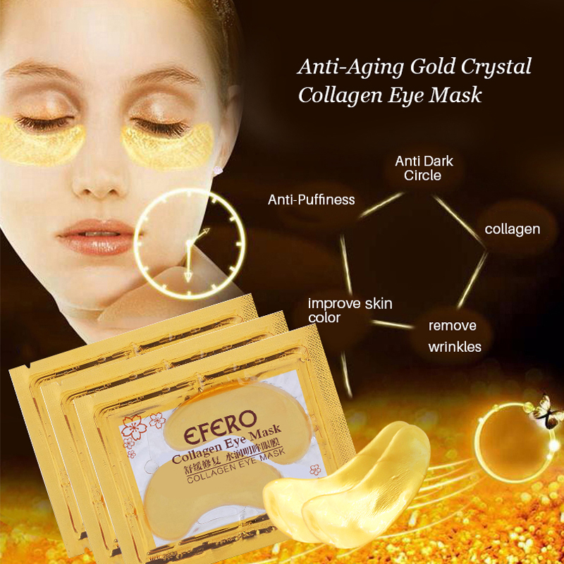 5 Pack EFERO Collagen Gold Eye Mask Eye Patch Mascarilla Parches Ojos - Cuidado de la piel - foto 3