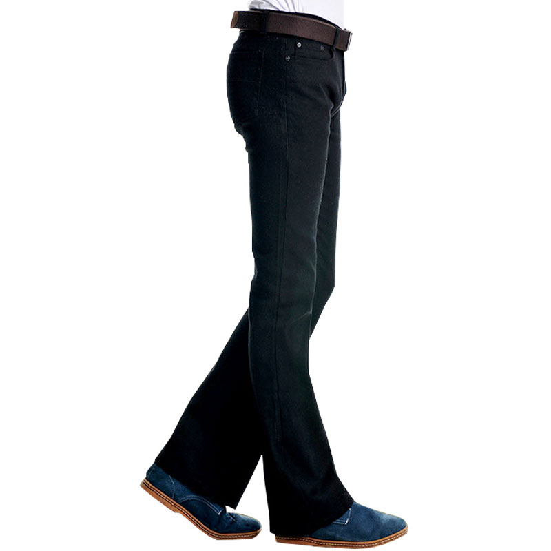 High Quality Flare Jeans For Men Smart Casual Bootcut Jeans Business Flare Pants Plus Size Trousers Size 28~38