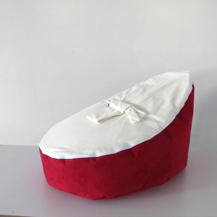 Free Shipping Disco Convertible  Baby Beanbag Chair, Two Tops Baby Beanbags Cover Only  Red White