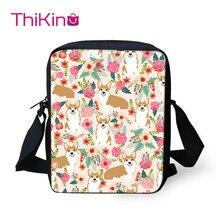 Thikin flower Child Shoulder School Square Messenger Bag Animal Kids Crossbody Schoolbag For Girls Book Bags Mochila Infantil
