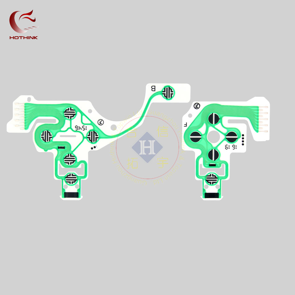 20pcs/lot HOTHINK Replacement Controller Ribbon Circuit Board PCB Contact  Pad flex cable for PS4 Controller Repair part PS4 PRO