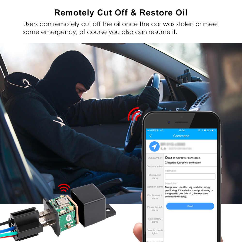 Автомобильный трекер реле gps трекер отключение топлива скрытый дизайн автомобиля gps локатор Google maps отслеживание в реальном времени ударная сигнализация бесплатное приложение
