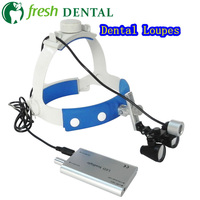 Wearable Dental Loupes 2.5X 3.5X optical glass magnifying glass with LED Head Light dentistry surgical ENT Medical Branch SL704