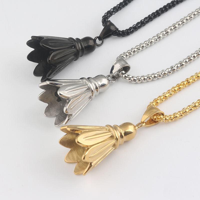 Drop shipping Sports fitness Badminton Necklace Necklace Pendant fashion jewelry women and men sportswoman Cosplay