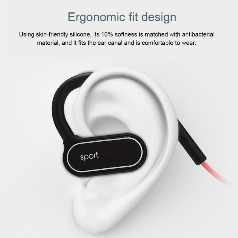 Sports Bluetooth Headset Wireless Earphone Ear Hanging Stereo Binaural Headphones With Voice Broadcast For Ipod Ipad Smartphoes in Bluetooth Earphones Headphones from Consumer Electronics