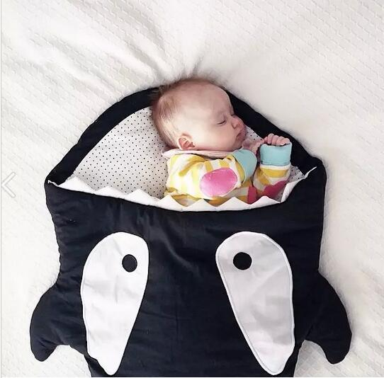 shark sleeping bag Newborns sleeping bag Winter Strollers  Swaddle Blanket Wrap cute Bedding baby sleeping bag  free delivery