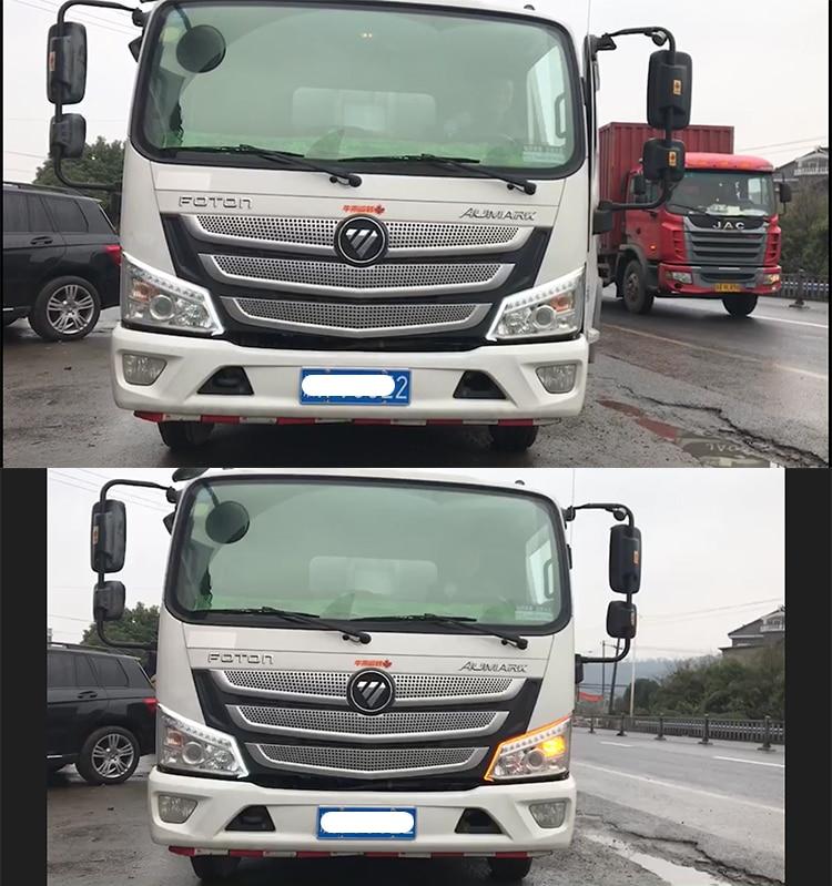 universal caminhão led drl luz de circulação