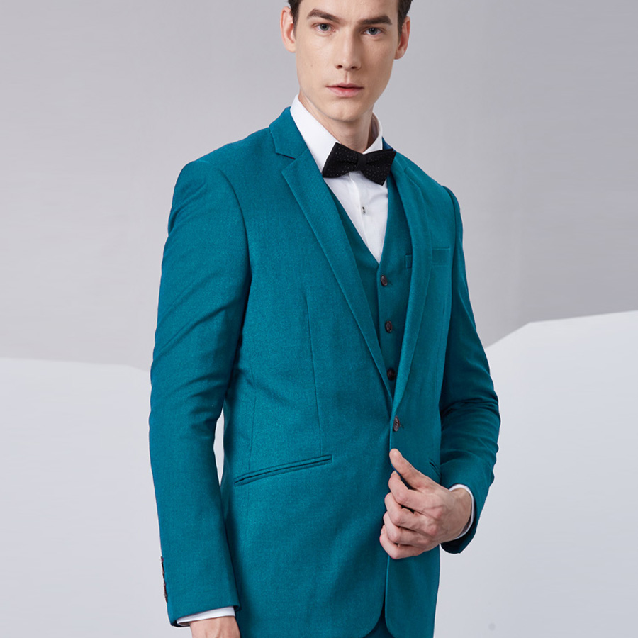 Wedding Suit Groom Tuxedos Business Suit Blazer Men 3 Pieces (Jacket ...