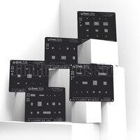 QIANLI 3D расположенная черная Сталь для iphone 5/5s 6/6 p 6s/6s p 7/7 p 8/8 p Power Logic модуль Олово посадки шаблон