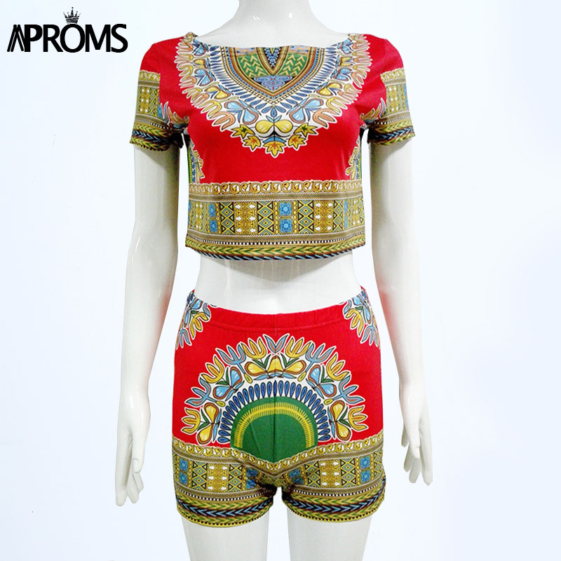 Summer Style Sexy Rompers Womens Jumpsuit DASHIKI Tops and Shorts Ladies Two Piece Playsuit Jumpsuits 80201