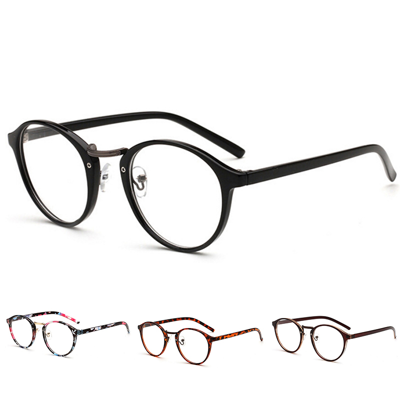 Clear Frame Women Spectacle Myopia Glasses Fashion Transparent Round Glasses  Men Eye Glasses Frame Nerd Optical Frames Clear(China)