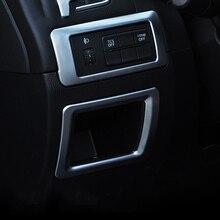 2 шт. ABS хром фар переключатель декоративные блестки Обложка для Mazda CX-5 CX5 2015 2016 автомобильные аксессуары