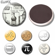 2PCS Steampunk Chemistry Refrigerator 30MM Magnet Fridge Glass Dome Science Chemical molecule Magnetic Stickers for Decor