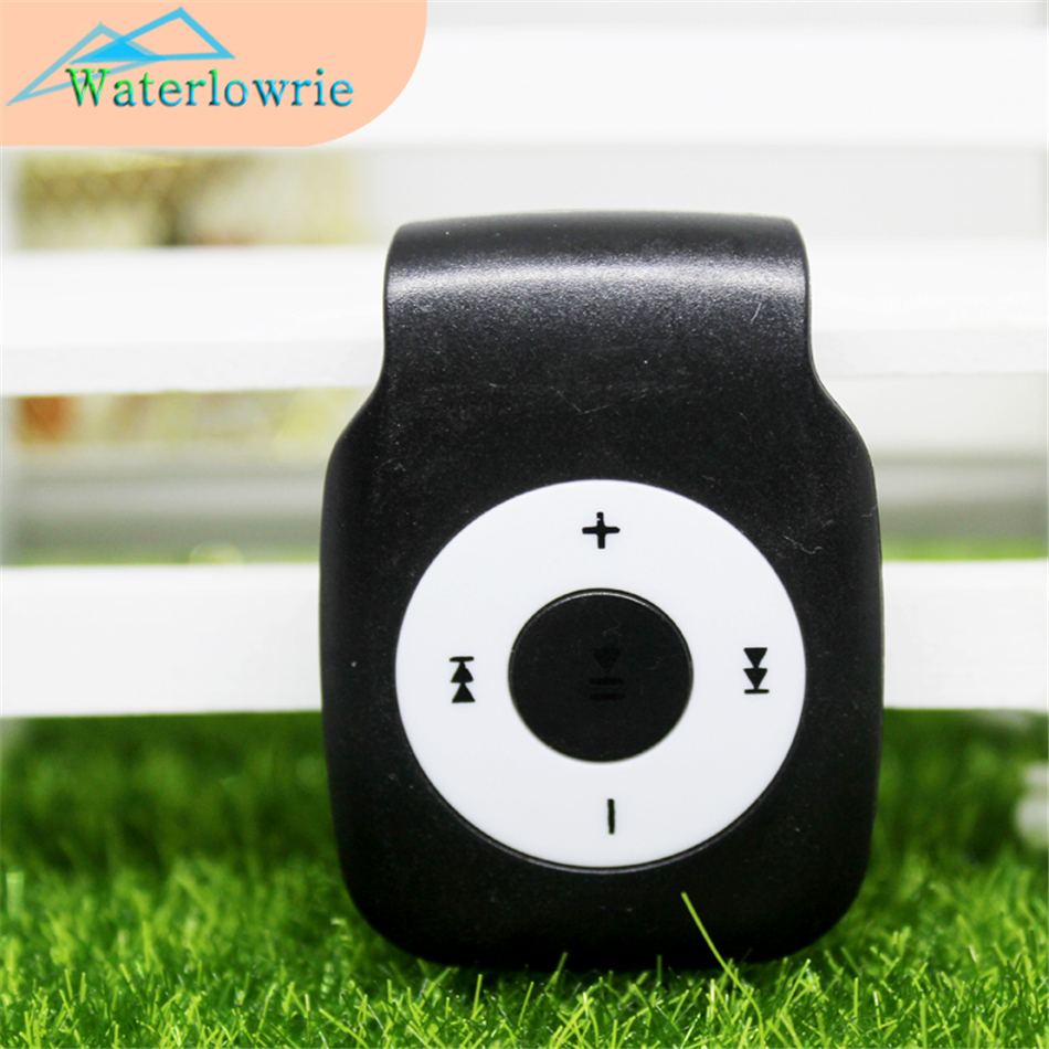 Waterlowrie Sport Mp3 Mini Clip MP3-Player music player Support Micro TF/SD Slot Portable MP 3 for running learning Relax