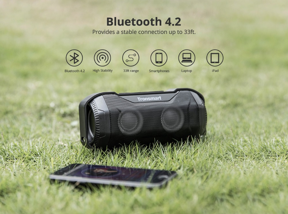 Tronsmart Blaze Bluetooth Speaker 10W IPX56 Column Waterproof Speaker with Superior Bass & LED Lights for bicycle sports 7
