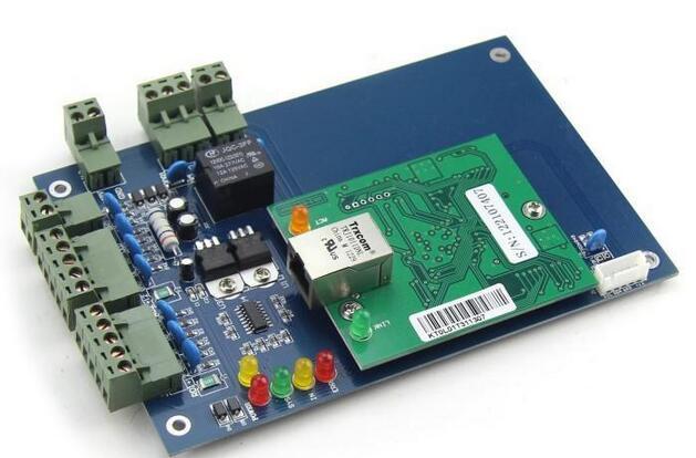 один двери с двусторонним управление доступом панель 125 кгц RFID-меток и RFID-считыватель система контроля доступа с ведомого читатель l01 от