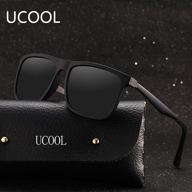72a44725c13c1 UCOOL Moda Homens Alta-grau de Lente Polarizada óculos de Sol Masculino  Óculos De Sol