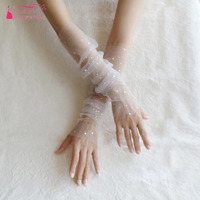 Sparkly Sheer Tulle Bridal Gloves Touchscreen fingerless Bridal Wedding Sequined Decoration Wedding Accessories ZG008