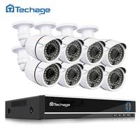 Techage 8CH 1080P HDMI AHD DVR CCTV System 2MP 3000TVL Outdoor Weatherproof 8pcs CCTV Camera Set