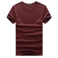2018 Новая мужская Корейская версия самообработки цвета соответствующие кожаные с короткими рукавами круглый вырез футболки