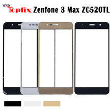 AS009 para 3 de Asus Zenfone 3 Max ZC520TL X008D teléfono móvil lcd exterior táctil pantalla para Asus ZC520TL Lente de Cristal frontal Panel de cubierta Par