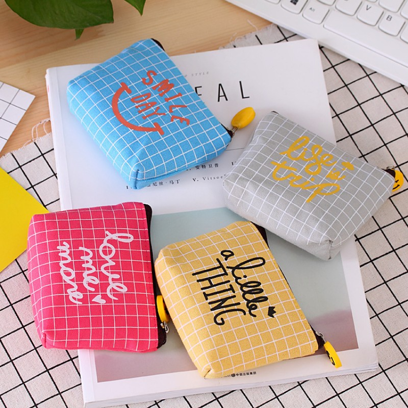 Rose Diary Simple lattice letter cute canvas zipper bags zero wallet child girl boy purse, lady women coin wallets Pouch Case rose diary new fresh pool party cute silicone zipper bags zero wallet child girl boy purse lady women coin wallets pouch case
