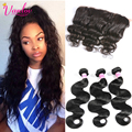 Cheap Hair Bundles Peruvian Body Wave With Lace Frontal Closure 3 Bundles Brown 7a Peruvian Virgin Hair Body Wave With Closure