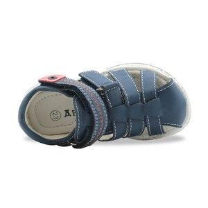 Image 5 - Apakowa/летние сандалии на плоской подошве для маленьких мальчиков; Модные сандалии гладиаторы на застежке липучке с поддержкой арки; Детская обувь