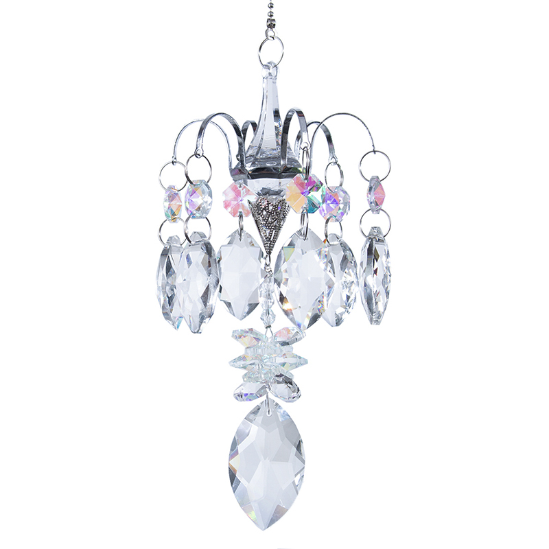 H&D Crystals Horse Eye Prisms Suncatcher Window Hanging Ornament Rainbow Maker Hanger For Home,Garden Decoration Christmas Gift