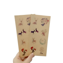 160pcs/Lot Cute Elk Seal Sticker Chinese style Badge Kraft Paper tags Labels Envelope Box Wrapping Baking Decor