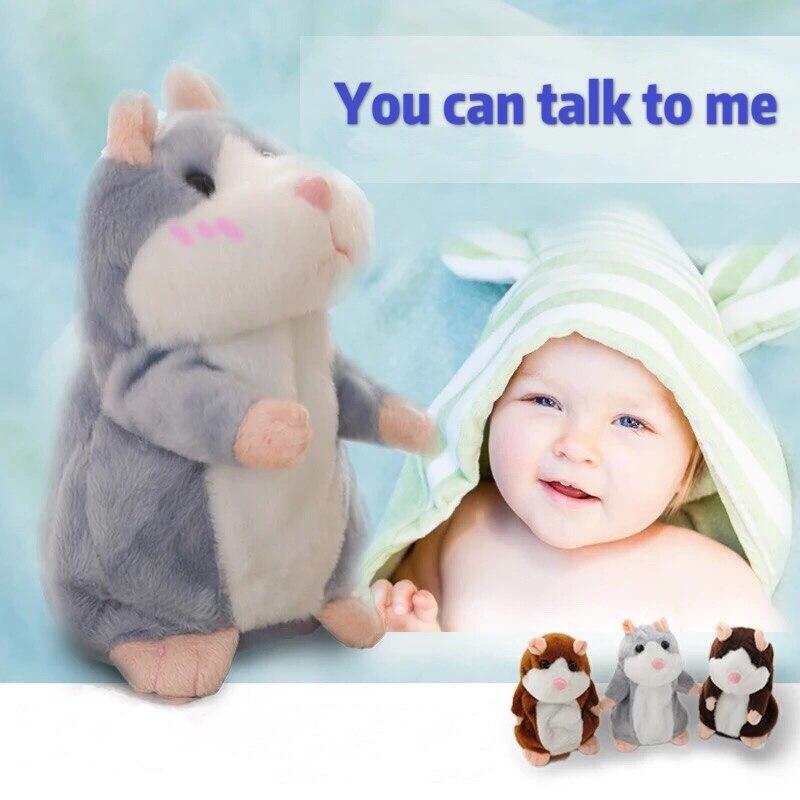 Dropshipping Promotion 15cm Lovely Talking Hamster Stuffed Plush Animal Kawaii Hamster Toys Speak Talk Sound Record Repeat