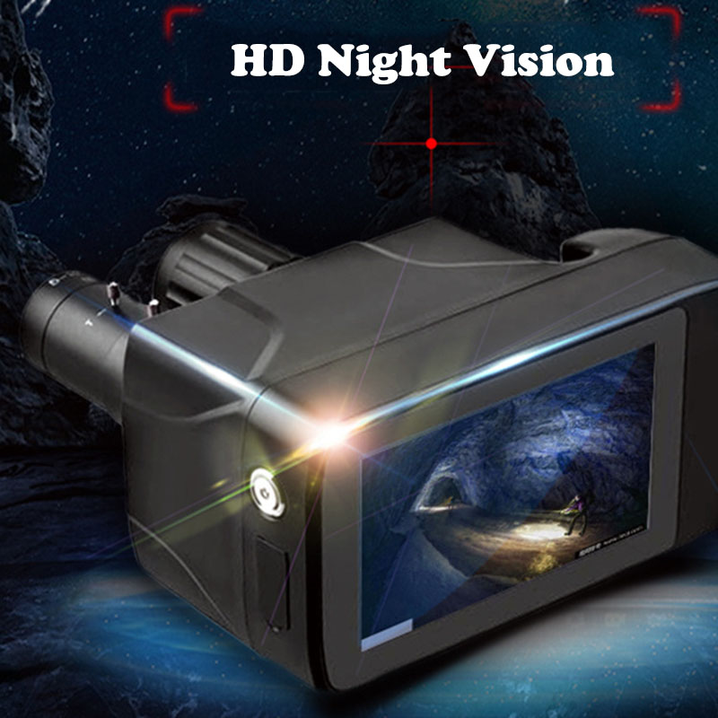 mais recente novo design hd digital visao noturna binoculos tela de toque inteligente laser multi funcao