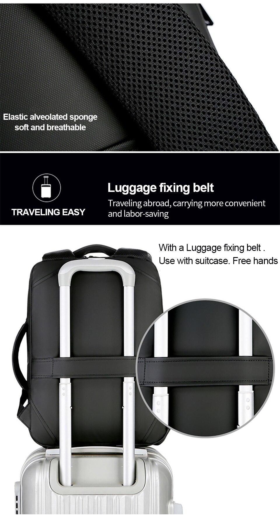 5 Multifunction USB Backpack Man Bag 15.6inch Laptop Backpacks Travel Bags Large Capacity Luggage Backpacking Waterproof Notebook