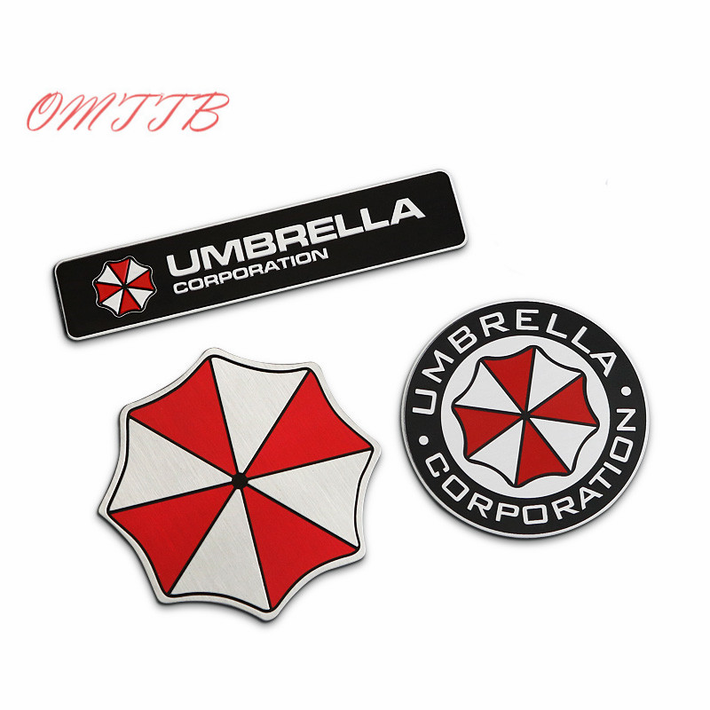3D Aluminum Umbrella Corporation Car Sticker Accessories Stickers For Ford Focus Cruze Kia Mazda Opel Bmw Vw Audi Car Styling