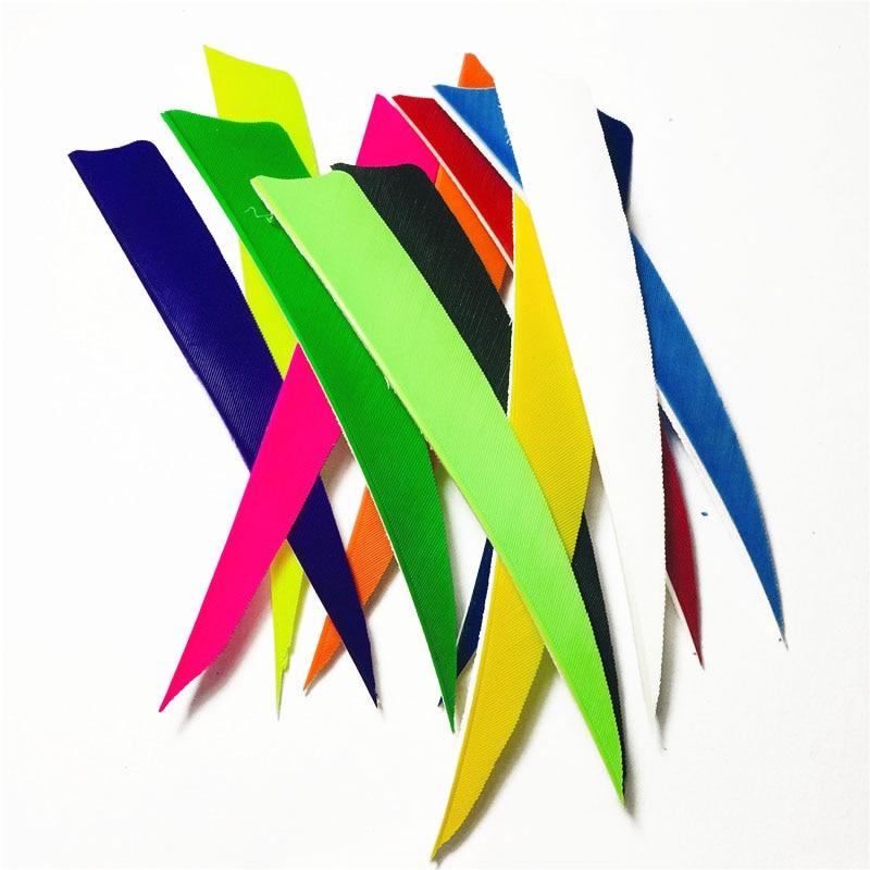 "50PCS 2/"" Shield Archery Fletches Arrow Feather Fletching Turkey Feather RW"