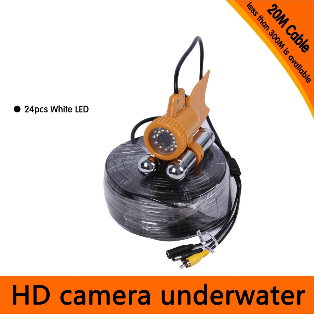 20Meters Depth Underwater Camera With Dual Lead Rodes For Fish Finder & Diving  Camera Application