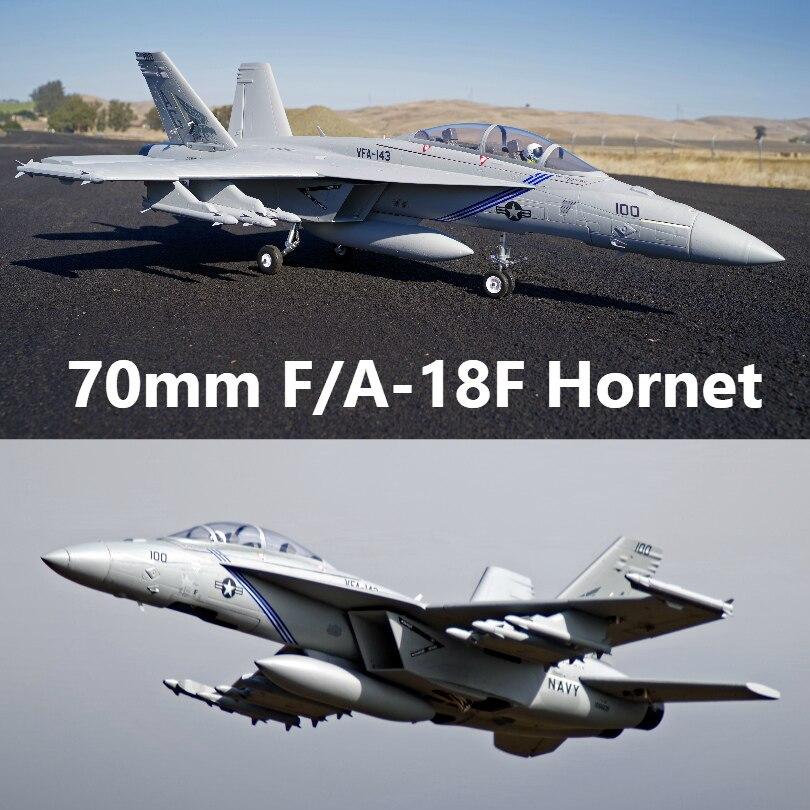 FMS RC Aereo F/A-18F F18 Super Hornet 70 millimetri Ducted Fan EDF Jet Grande Bilancia Modello di Aereo Aereo Aereo PNP 6 S 6CH con Ritrae Flaps